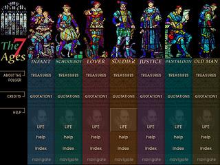 Nina Tovish | Lucid Design | Intranet — The Seven Ages of Man