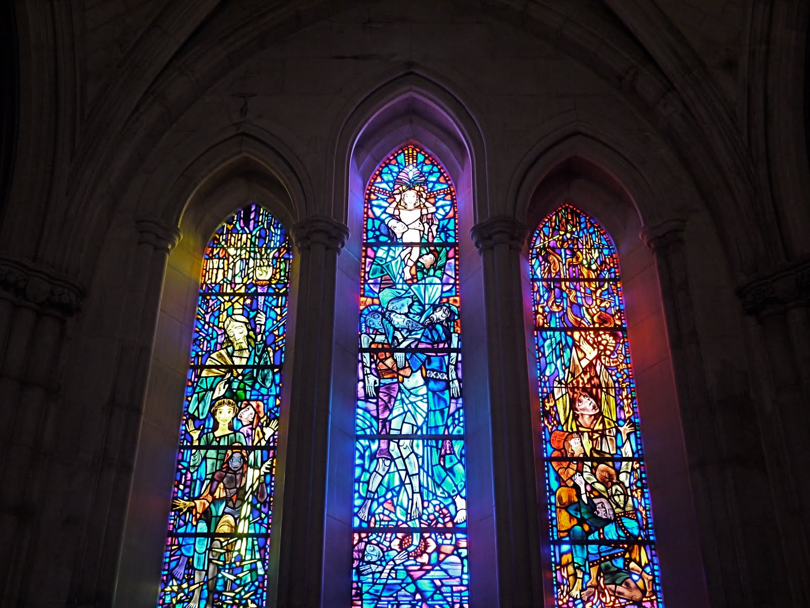 Something Beautiful I Saw Today Late Sun Through Stained Glass